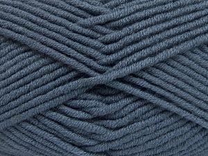 Fiber Content 50% Acrylic, 50% Merino Wool, Smoke Blue, Brand Ice Yarns, fnt2-65956