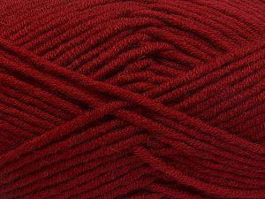 Fiberinnehåll 50% Merino, 50% Akryl, Brand Ice Yarns, Dark Red, fnt2-65962