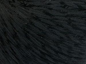 Fiber Content 70% Mercerised Cotton, 30% Viscose, Brand Ice Yarns, Black, fnt2-65981
