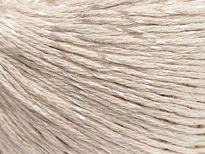 Fiber Content 70% Mercerised Cotton, 30% Viscose, Light Beige, Brand Ice Yarns, fnt2-65986