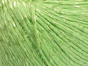 Fiber Content 70% Mercerised Cotton, 30% Viscose, Light Green, Brand Ice Yarns, fnt2-65988