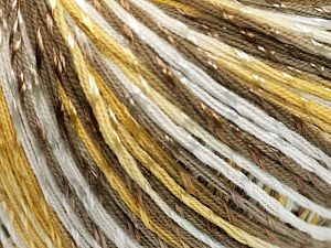 Fiber Content 70% Mercerised Cotton, 30% Viscose, White, Brand Ice Yarns, Gold, Camel, fnt2-65998