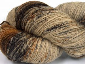 Please note that this is a hand-dyed yarn. Colors in different lots may vary because of the charateristics of the yarn. Also see the package photos for the colorway in full; as skein photos may not show all colors. Fiberinnehåll 75% Super Wash Ull, 25% Polyamid, Orange, Brand Ice Yarns, Brown Shades, fnt2-66009