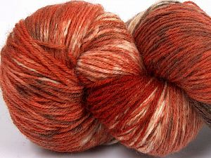 Please note that this is a hand-dyed yarn. Colors in different lots may vary because of the charateristics of the yarn. Also see the package photos for the colorway in full; as skein photos may not show all colors. Fiberinnehåll 75% Super Wash Ull, 25% Polyamid, Brand Ice Yarns, Cream, Copper, Brown Shades, fnt2-66027