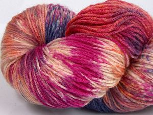 Please note that this is a hand-dyed yarn. Colors in different lots may vary because of the charateristics of the yarn. Also see the package photos for the colorway in full; as skein photos may not show all colors. Fiberinnehåll 75% Super Wash Ull, 25% Polyamid, Salmon Shades, Brand Ice Yarns, Grey Shades, Fuchsia, fnt2-66031