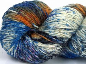 Please note that this is a hand-dyed yarn. Colors in different lots may vary because of the charateristics of the yarn. Also see the package photos for the colorway in full; as skein photos may not show all colors. Fiber Content 75% Super Wash Wool, 25% Polyamide, Orange, Brand Ice Yarns, Fuchsia, Dark Grey, Blue Shades, fnt2-66032