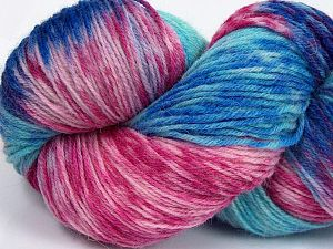 Please note that this is a hand-dyed yarn. Colors in different lots may vary because of the charateristics of the yarn. Also see the package photos for the colorway in full; as skein photos may not show all colors. Fiberinnehåll 75% Super Wash Ull, 25% Polyamid, Turquoise Shades, Pink Shades, Brand Ice Yarns, Blue, fnt2-66035