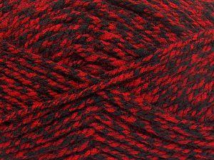 Bulky  Fiber Content 100% Acrylic, Red, Brand Ice Yarns, Black, fnt2-66047