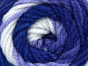Fiber Content 100% Acrylic, White, Purple Shades, Brand Ice Yarns, fnt2-66053