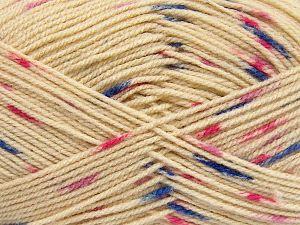 Fiber Content 100% Acrylic, Pink Shades, Khaki, Brand Ice Yarns, Dark Cream, Blue, fnt2-66056