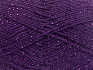Fiber Content 94% Acrylic, 6% Metallic Lurex, Purple, Brand Ice Yarns, fnt2-66070