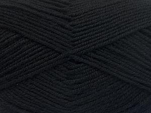 Fiber Content 60% Merino Wool, 40% Acrylic, Brand Ice Yarns, Black, fnt2-66072