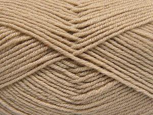 İçerik 60% Merino Yün, 40% Akrilik, Brand Ice Yarns, Beige, fnt2-66075