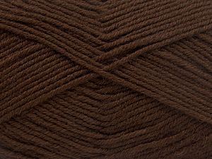 Fiber Content 60% Merino Wool, 40% Acrylic, Brand Ice Yarns, Dark Brown, fnt2-66078