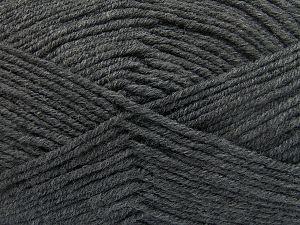 Fiber Content 60% Merino Wool, 40% Acrylic, Brand Ice Yarns, Dark Grey, fnt2-66080