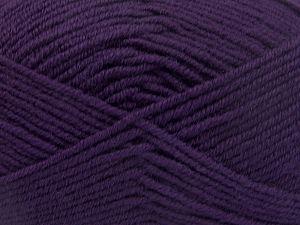 Fiber Content 60% Merino Wool, 40% Acrylic, Purple, Brand Ice Yarns, fnt2-66086