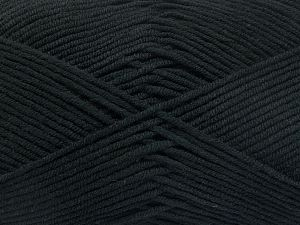 Vezelgehalte 50% Katoen, 50% Acryl, Brand Ice Yarns, Black, fnt2-66096