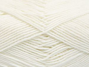Fiber Content 50% Cotton, 50% Acrylic, White, Brand Ice Yarns, fnt2-66097