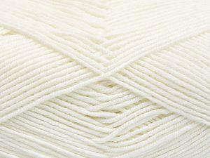 Vezelgehalte 50% Katoen, 50% Acryl, White, Brand Ice Yarns, fnt2-66097