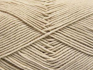 Vezelgehalte 50% Acryl, 50% Katoen, Light Beige, Brand Ice Yarns, fnt2-66100