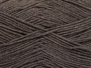 Vezelgehalte 50% Katoen, 50% Acryl, Brand Ice Yarns, Dark Camel, fnt2-66102