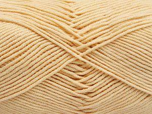Vezelgehalte 50% Katoen, 50% Acryl, Brand Ice Yarns, Dark Cream, fnt2-66104