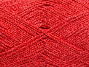 Vezelgehalte 50% Katoen, 50% Acryl, Marsala Red, Brand Ice Yarns, fnt2-66110