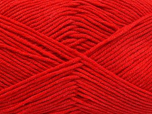 Fiber Content 50% Cotton, 50% Acrylic, Red, Brand Ice Yarns, fnt2-66111