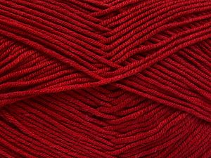 Fiber Content 50% Cotton, 50% Acrylic, Brand Ice Yarns, Dark Red, fnt2-66112