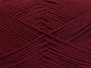 Fiber Content 50% Cotton, 50% Acrylic, Brand Ice Yarns, Burgundy, fnt2-66113