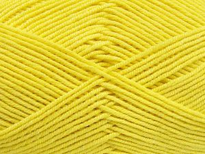 Fiber Content 50% Cotton, 50% Acrylic, Yellow, Brand Ice Yarns, fnt2-66116