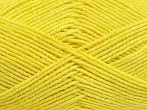 Vezelgehalte 50% Katoen, 50% Acryl, Yellow, Brand Ice Yarns, fnt2-66116