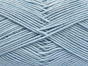 Vezelgehalte 50% Katoen, 50% Acryl, Brand Ice Yarns, Baby Blue, fnt2-66124