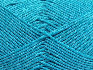 Fiber Content 50% Cotton, 50% Acrylic, Turquoise, Brand Ice Yarns, fnt2-66125