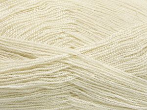Very thin yarn. It is spinned as two threads. So you will knit as two threads. Yardage information is for only one strand. Fiber Content 100% Acrylic, Light Beige, Brand Ice Yarns, fnt2-66128