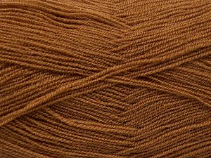 Very thin yarn. It is spinned as two threads. So you will knit as two threads. Yardage information is for only one strand. Fiber Content 100% Acrylic, Light Brown, Brand Ice Yarns, fnt2-66134