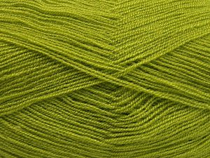 Very thin yarn. It is spinned as two threads. So you will knit as two threads. Yardage information is for only one strand. Fiber Content 100% Acrylic, Light Green, Brand Ice Yarns, fnt2-66137