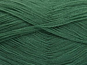 Very thin yarn. It is spinned as two threads. So you will knit as two threads. Yardage information is for only one strand. Fiber Content 100% Acrylic, Mint Green, Brand Ice Yarns, Dark Mint Green, fnt2-66141