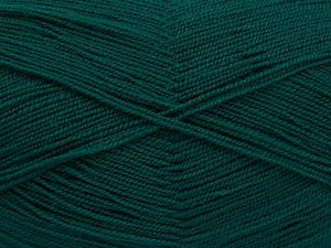 Very thin yarn. It is spinned as two threads. So you will knit as two threads. Yardage information is for only one strand. Fiber Content 100% Acrylic, Brand Ice Yarns, Emerald Green, fnt2-66142