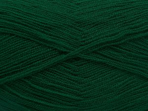 Very thin yarn. It is spinned as two threads. So you will knit as two threads. Yardage information is for only one strand. Fiber Content 100% Acrylic, Brand Ice Yarns, Dark Emerald Green, fnt2-66143