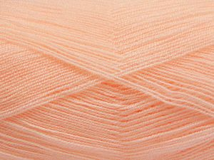Very thin yarn. It is spinned as two threads. So you will knit as two threads. Yardage information is for only one strand. Fiber Content 100% Acrylic, Light Salmon, Brand Ice Yarns, fnt2-66153