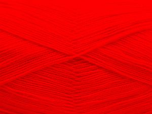 Very thin yarn. It is spinned as two threads. So you will knit as two threads. Yardage information is for only one strand. Fiber Content 100% Acrylic, Neon Red, Brand Ice Yarns, fnt2-66158