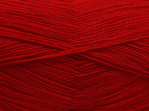 Very thin yarn. It is spinned as two threads. So you will knit as two threads. Yardage information is for only one strand. Fiber Content 100% Acrylic, Marsala Red, Brand Ice Yarns, fnt2-66159