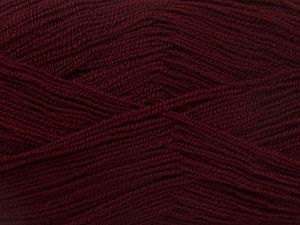 Very thin yarn. It is spinned as two threads. So you will knit as two threads. Yardage information is for only one strand. Fiber Content 100% Acrylic, Brand Ice Yarns, Dark Maroon, fnt2-66160