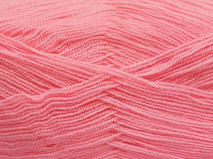 Very thin yarn. It is spinned as two threads. So you will knit as two threads. Yardage information is for only one strand. Fiber Content 100% Acrylic, Light Pink, Brand Ice Yarns, fnt2-66162