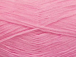 Very thin yarn. It is spinned as two threads. So you will knit as two threads. Yardage information is for only one strand. Fiber Content 100% Acrylic, Brand Ice Yarns, Baby Pink, fnt2-66165