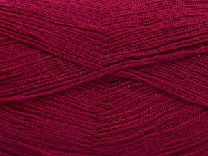 Very thin yarn. It is spinned as two threads. So you will knit as two threads. Yardage information is for only one strand. Fiber Content 100% Acrylic, Brand Ice Yarns, Fuchsia, fnt2-66169