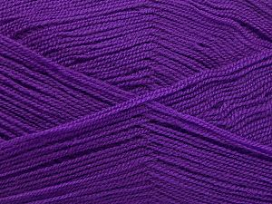 Very thin yarn. It is spinned as two threads. So you will knit as two threads. Yardage information is for only one strand. Fiber Content 100% Acrylic, Lilac, Brand Ice Yarns, fnt2-66173