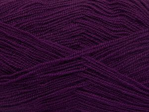 Very thin yarn. It is spinned as two threads. So you will knit as two threads. Yardage information is for only one strand. Fiber Content 100% Acrylic, Purple, Brand Ice Yarns, fnt2-66174