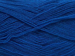 Very thin yarn. It is spinned as two threads. So you will knit as two threads. Yardage information is for only one strand. Fiber Content 100% Acrylic, Royal Blue, Brand Ice Yarns, fnt2-66178